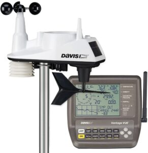 The Davis Vantage Vue ISS (left) and receiver (right)